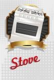 Ilustración de una estufa Imágenes de archivo libres de regalías