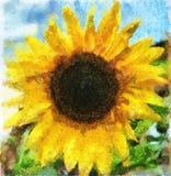 Ilustración de una flor de un girasol libre illustration