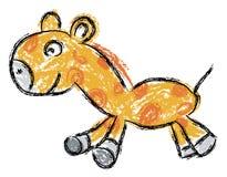Ilustración de una jirafa Fotografía de archivo