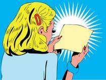 Ilustración de una lectura de la mujer Fotografía de archivo libre de regalías