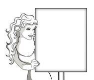 Ilustración de una muchacha Fotografía de archivo libre de regalías