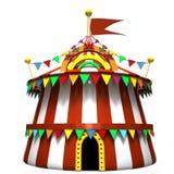 Ilustración de una tienda de circo Fotos de archivo libres de regalías