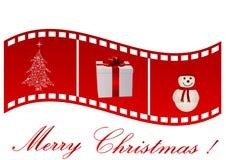 Ilustración de una tira de la película con símbolo de la Navidad libre illustration