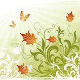 Ilustración decorativa floral Foto de archivo