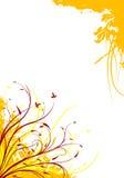Ilustración decorativa floral del vector del fondo del grunge abstracto Imagenes de archivo