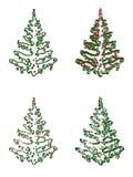 Ilustración del árbol de navidad Imagen de archivo libre de regalías