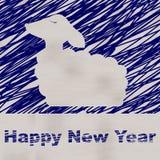 Ilustración del Año Nuevo Tarjeta de felicitación de la Feliz Navidad Fotografía de archivo libre de regalías