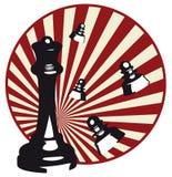 Ilustración del ajedrez Imagen de archivo