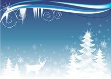 Ilustración del arbolado del invierno Foto de archivo libre de regalías