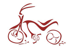 Ilustración del arte de una bici roja Fotografía de archivo libre de regalías