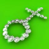 Ilustración del arte del diamante de la dimensión de una variable del tipo de interés Imagen de archivo libre de regalías