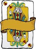 Ilustración del bromista del estilo de la tarjeta que juega Foto de archivo libre de regalías