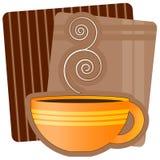 Ilustración del café Imagen de archivo