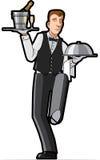 Ilustración del camarero. Imagen de archivo libre de regalías