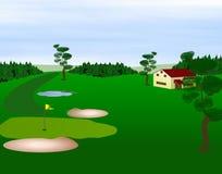 Ilustración del campo de golf ilustración del vector