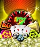 Ilustración del casino Imágenes de archivo libres de regalías