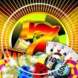 Ilustración del casino Fotografía de archivo libre de regalías