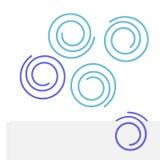 Ilustración del clip de papel bajo la forma de círculo. Stock de ilustración