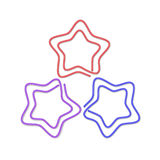 Ilustración del clip de papel bajo la forma de estrella. Imágenes de archivo libres de regalías