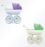 Ilustración del cochecillo de bebé Imagen de archivo