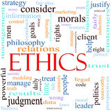 Ilustración del concepto de la palabra de los éticas Fotografía de archivo