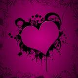 Ilustración del corazón de Grunge Foto de archivo libre de regalías