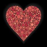 Ilustración del corazón en fondo negro Imagenes de archivo
