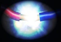 Ilustración del cortocircuito Imagen de archivo