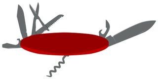 Ilustración del cuchillo de bolsillo Imagen de archivo libre de regalías
