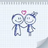 Ilustración del día de tarjeta del día de San Valentín Foto de archivo