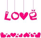Ilustración del día de tarjetas del día de San Valentín foto de archivo