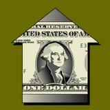 Ilustración del dólar y de la flecha ilustración del vector