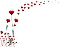 Ilustración del diseño del corazón de la tarjeta del día de San Valentín Fotografía de archivo