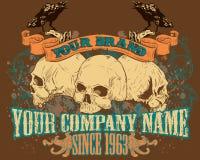 Ilustración del diseño del cráneo Foto de archivo