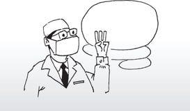 Ilustración del doctor   Imagen de archivo