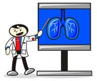 Ilustración del doctor cuando presentación Foto de archivo