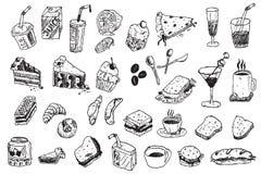 Ilustración del doodle del drenaje de la mano ilustración del vector