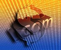 Ilustración del DotCom ilustración del vector