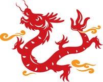 Ilustración del dragón del estilo chino Imagen de archivo
