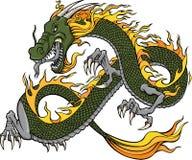 Ilustración del dragón verde stock de ilustración