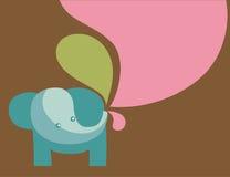 Ilustración del elefante con colores en colores pastel Foto de archivo