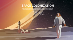 Ilustración del espacio stock de ilustración