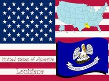 Ilustración del estado de Luisiana Imagen de archivo libre de regalías