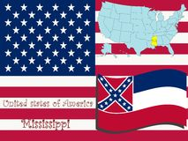 Ilustración del estado de Mississippi Fotos de archivo libres de regalías