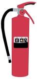 Ilustración del extintor Imagenes de archivo