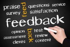 Ilustración del feedback Imagenes de archivo