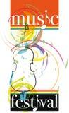 Ilustración del festival de música Fotografía de archivo libre de regalías