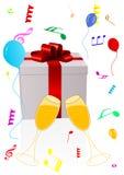 Ilustración del fondo de la celebración Fotografía de archivo libre de regalías