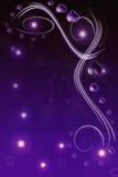 Ilustración del fondo de la tarjeta del día de San Valentín púrpura y negra Imagen de archivo