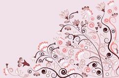 Ilustración del fondo de plantas en color de rosa y blanco Fotografía de archivo libre de regalías